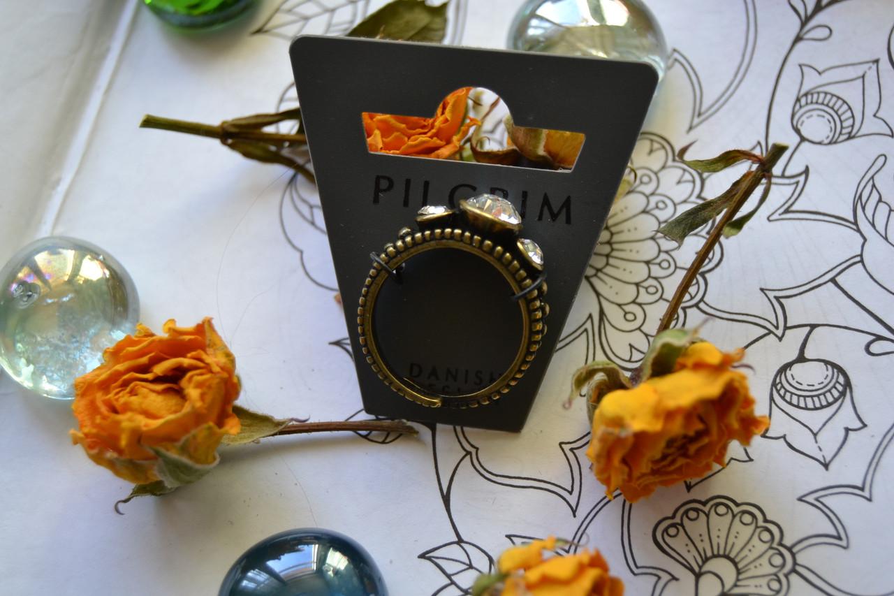 Регулируемое кольцо с камнями Pilgrim