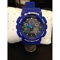 Casio G-Shock синие часы на руку