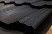 Модульная металлочерепица EGERIA (SSAB-Швеция) Poliester Mat 33 крупнозернистый чёрный 0,784 кв.м