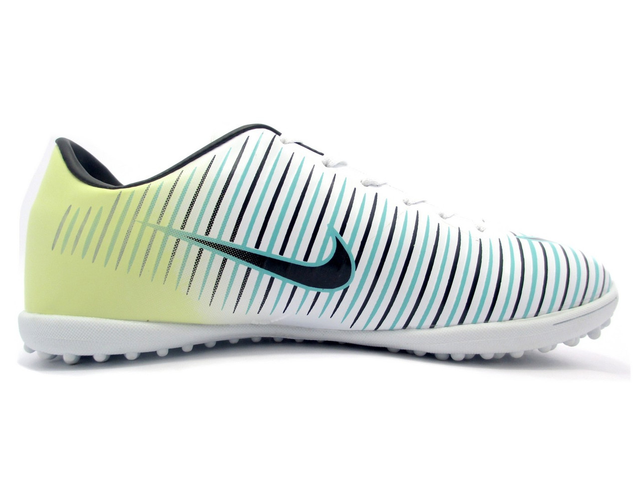 Футбольные сороконожки Nike Mercurial Victory TF White/Black/Volt/Jade Blue