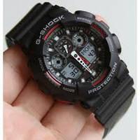 Мужские часы на руку Casio G-Shock черно-красные