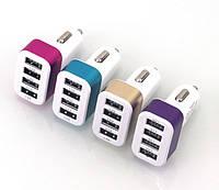 USB прикуриватель от 12V 4,1A на 4 выхода на блистере, фото 1