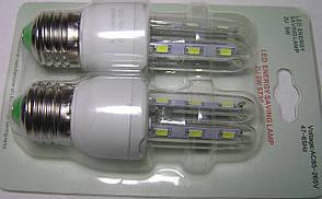 Лампа Epistar E27 форма 2U 5wt 12led холодный, на блестере