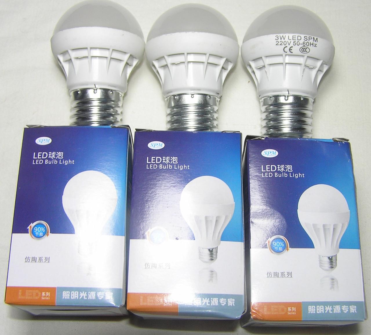 Лампа Daylight E27 3 Wt 5 led холодный
