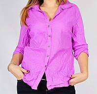 Рубашка женская неоновая фиолетовая, 52 размер