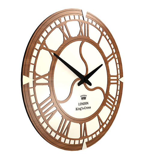 Необычные настенные часы (45 см) [МДФ, Открытые]