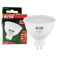 LEDлампа EL-51307-W 7W MR16 3000K G5,3 570Lm 175-250V IC+EMC driver ELTIS