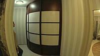 Раздвижная радиусная система на три двери