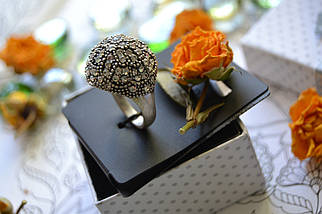 Кольцо с покрытием стерлингового серебра и камнями Pilgrim, фото 3