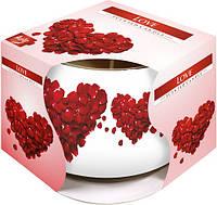Свеча ароматическая в стекле Bispol Любовь 7 см (sn71s-05)