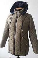 Курточка весенняя женская (большие размеры в наличии)/оливковый