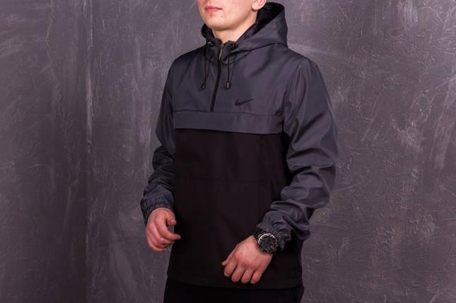 Анорак Nike (серо-черный), фото 2
