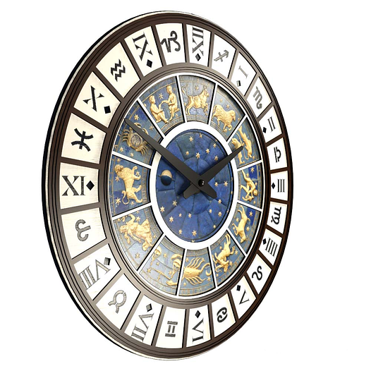 Необычные настенные часы (45 см) темные [МДФ, Открытые]