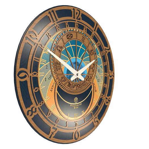 Часы настенные классические (45 см) [МДФ, Открытые]