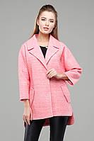 Оригинальное молодежное пальто декорировано двумя врезными карманами