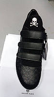 Мужские ботинки в стиле  Philipp Plein на липучке