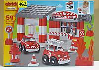 Конструктор Ecoiffier Abrick Скоростное авто. Пожарное депо (3080)