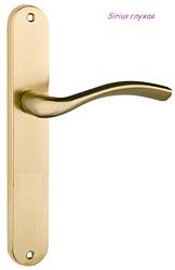 Дверная ручка Sirius  латунь матовая