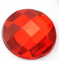 Круг ребристый, красный  16  мм