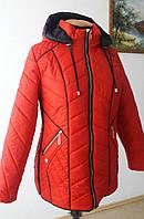 Курточка весенняя женская (большие размеры в наличии)/красная