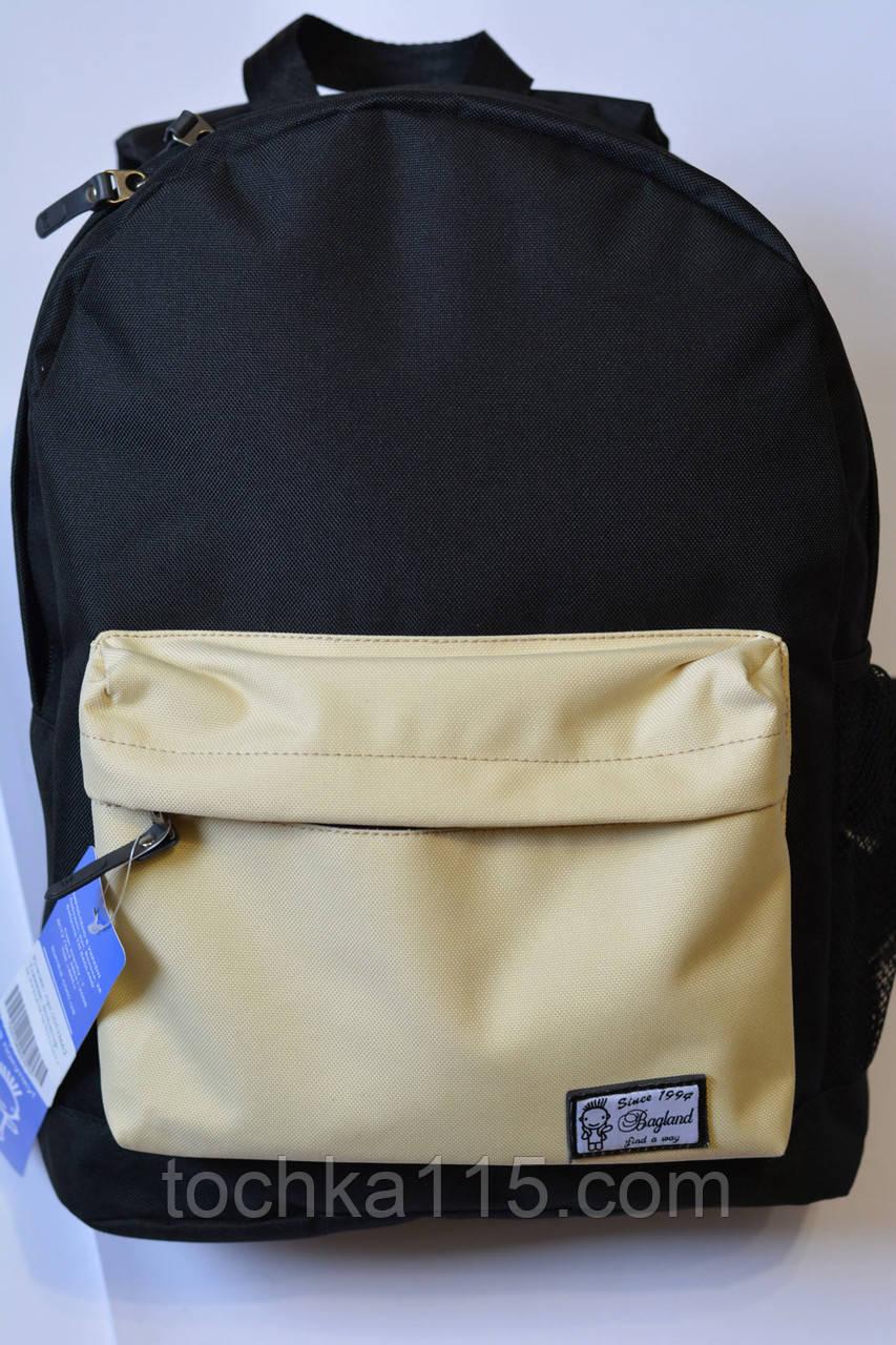 Городской рюкзак багленд Bagland черный с белым, копия