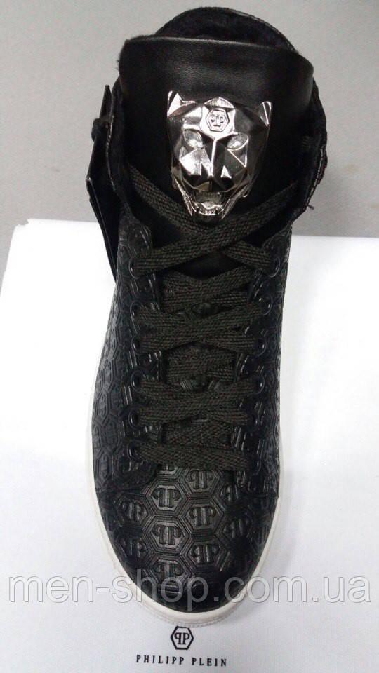 Мужские ботинки в стиле  Philipp Plein, шнуровка