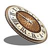 Необычные настенные часы (45 см) светлые [МДФ, Открытые], фото 2