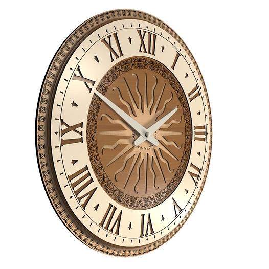 Необычные настенные часы (45 см) светлые [МДФ, Открытые]