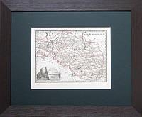 Старинная карта Западной Украины XVIII век