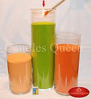 Ваза стеклянная 535х160 мм ваза напольная, подсвечник, ваза для цветов, фото 1