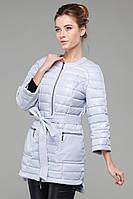 Модный демисезонный плащ Белла с четвертными рукавами и поясом на талии