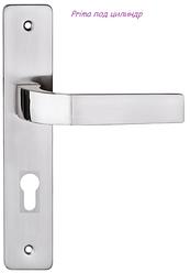 Дверная ручка Prima   никель сатин