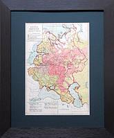 Карта наречий украинского и  русского  языков. 1915 г.