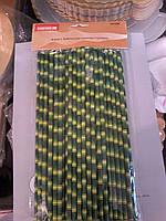 Трубочка Бумажная во виде Бомбук 24см, 50шт пачка