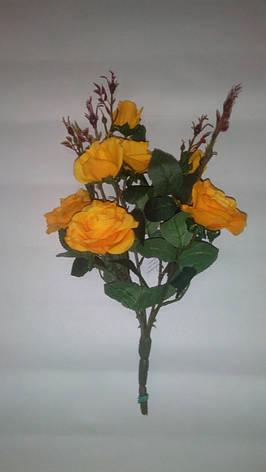 Искусственный куст роз, фото 2