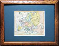 Старинная карта Европы, конец XVIII века