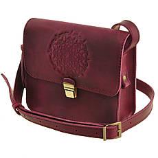"""Маленька жіноча сумка """"Лілу"""" виноградного кольору"""