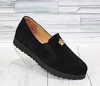 Туфли - мокасины для девочки. натуральная замша 0031