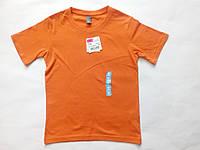 Літня яскрава футболка для на дівчинку хлопчика дитяча помаранчева зростання 118