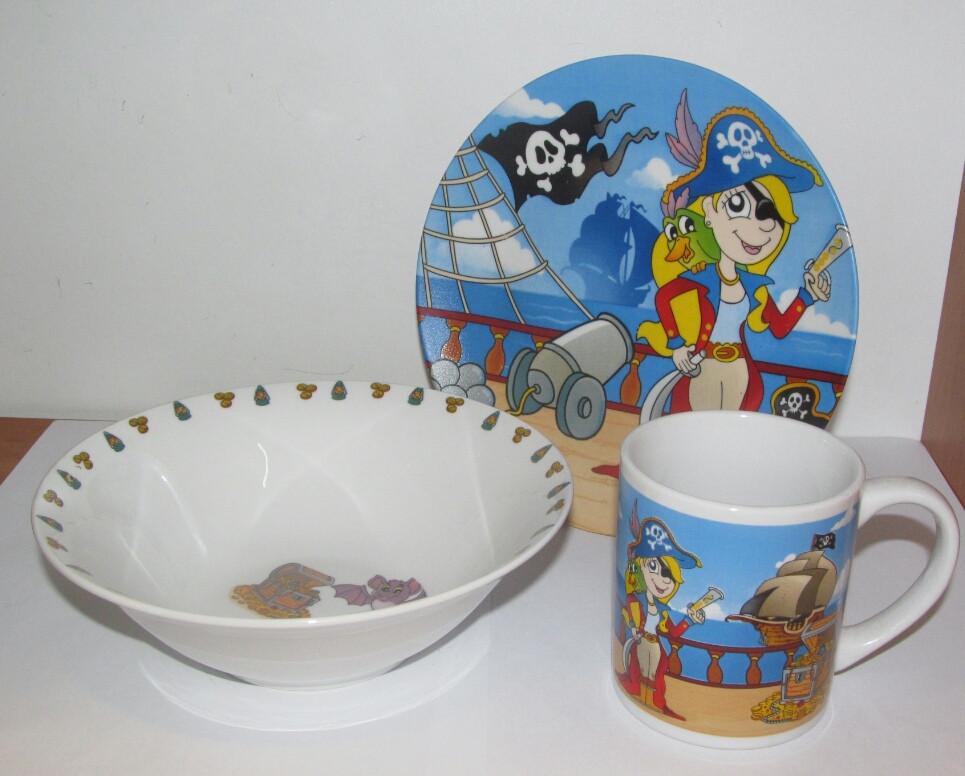 Набор детской посуды Пираты
