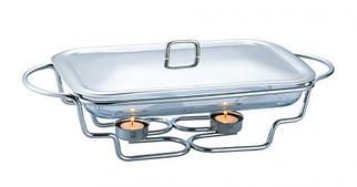 Мармит Kamille Food Warmer прямоугольное блюдо 1.5л 40х19см с подогревом