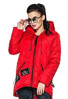 Стильная  женская парка - куртка Мила  (красный)