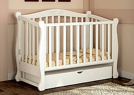 Детская кроватка маятник Prestige 8 белая