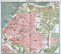 Одесса. Старинный план города, начало XX в.