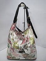 Женская сумка из натуральной кожи с цветочным принтом Vidolia