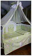 Комплект с балдахином в детскую кроватку Золушка
