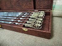 """Шампуры ручной работы """"Дикий кабан"""" в кейсе (набор шампуров  6шт)"""