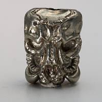 Бусина на темляк Пришелец (бронза, черненая бронза, мельхиор)