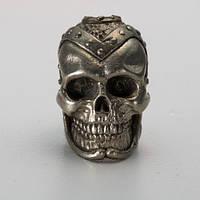 Бусина на темляк Череп № 1 (бронза, черненая бронза, мельхиор)