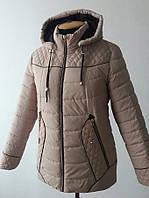 Курточка со стежкой (большие размеры в наличии)/бежевая